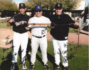 From left to right: Walt Weiss, Kevin & Mark Strittmatter